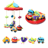 Crib Pendant Toy Bed Bell 0 12 Months Newborn Plush Fabric Hanging Bed Bell Baby Bedside Bell 360 Degree Rotate Rattle Music Toy