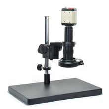 Buy online USB Camera VGA AV Digital Industrial Microscope Camera Set Dual-arm Heavy Duty Boom Large Stereo Table Stand 180X C-MOUNT Lens
