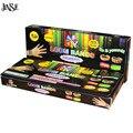 JINSE Puro Colorido Bandas de Borracha DIY Bandas Pulseira Tear Caixa de Embalagem 600 pcs Rubber Band + 1 Gancho + 12 S-Clipes Meninas DIY Tear Definir