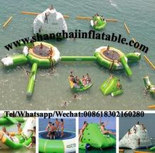 inflatable floating water park inflatable islands water sports walk