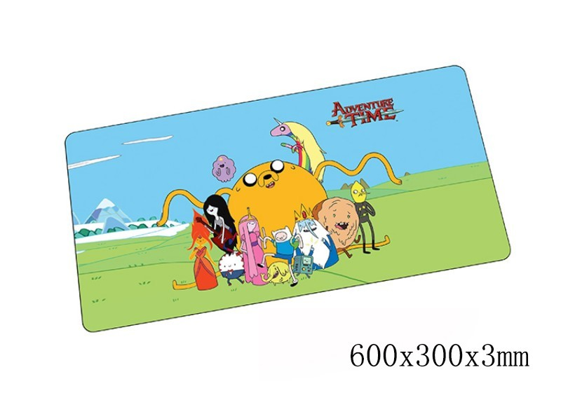 Adventure Time mouse pad 600x300x3mm pad to mouse notbook computer mousepad High-end gaming padmouse gamer to laptop mouse mat