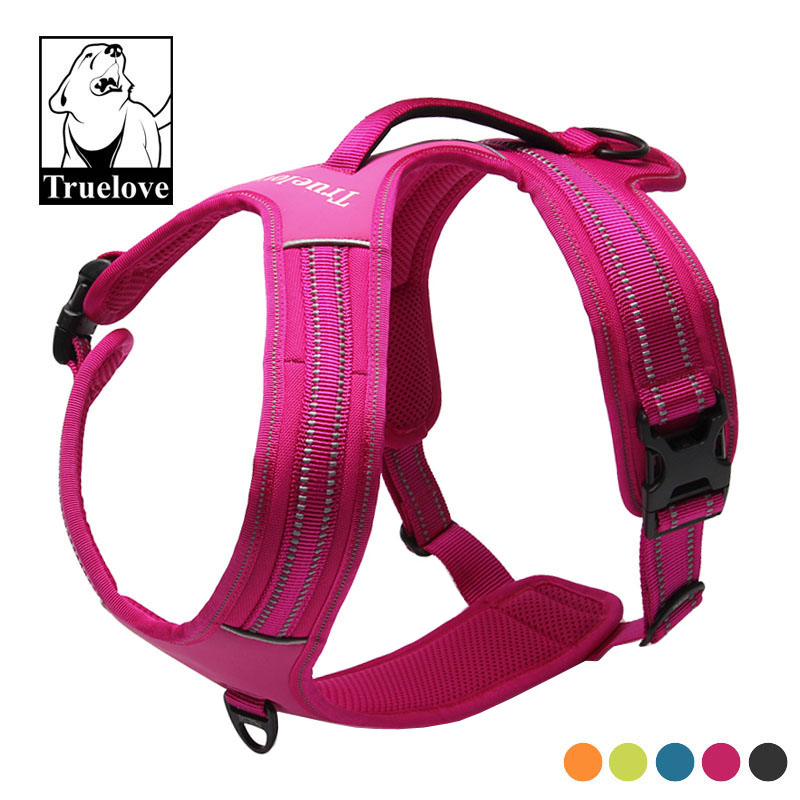 Truelove Sport Nylon Reflective No Pull Dog Harness Soft Adjustable Strap Front Range Vest Harness for Dogs Pet Supplies bulldog