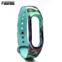For Mi Band 2 Flower Printed Replace Strap for Xiaomi 2 Silicone Wristbands for MiBand 2 Bracelet