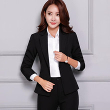 Professional women pants suit OL fashion business formal slim long sleeve blazer with trousers office ladies plus size work wear