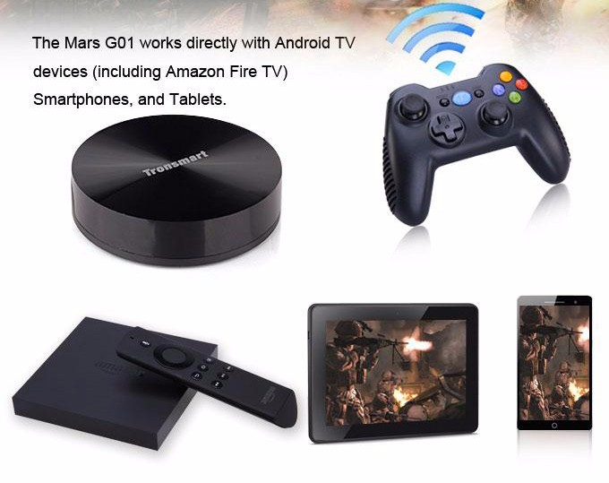 Tronsmart Mars G01 2.4GHz Wireless Gamepad for PlayStation 3 PS3 Game Controller Joystick for Android TV Box Windows (13)-2