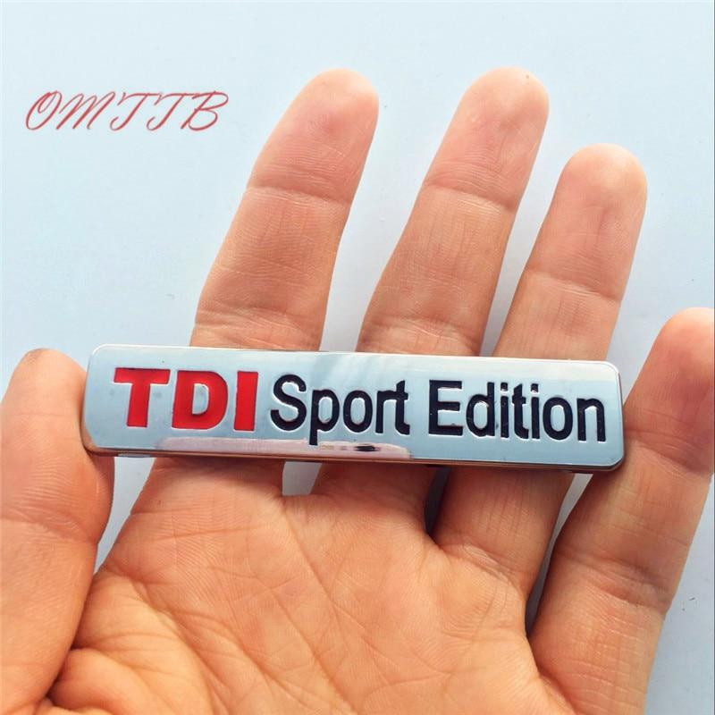 3D из металла TDI спорт издание автомобилей герба Знак Наклейка Turbo прямой впрыск автомобиля Стикеры для VW Golf CC TT GTI touareg Тюнинг автомобилей