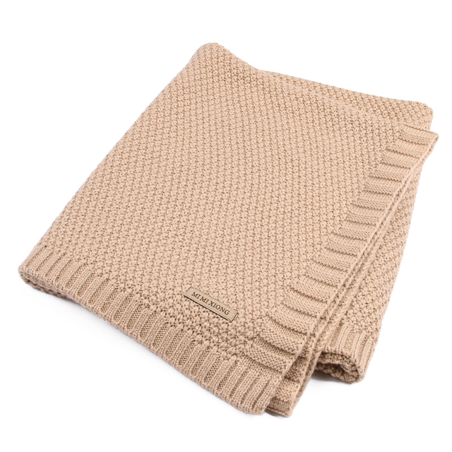 Baby Blanket Knitted Newborn Swaddle Wrap Blankets Super Soft Toddler Infant Bedding Quilt For Bed Sofa Basket