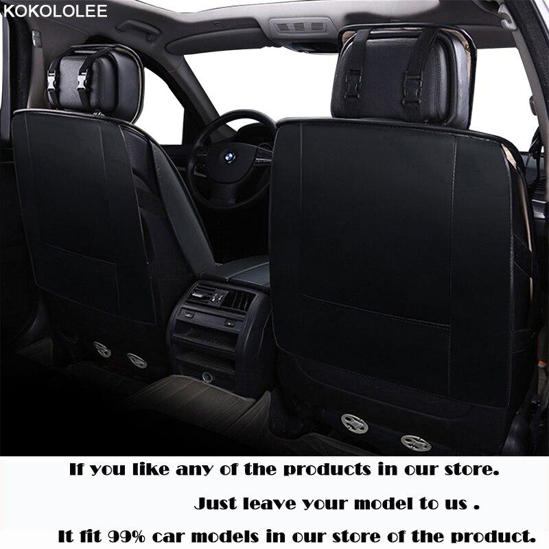 KOKOLOLEE siège de voiture couvre set pour lada granta renault logan peugeot 206 geely emgrand ec7 ssangyong kyron voiture sièges protecteur - 4