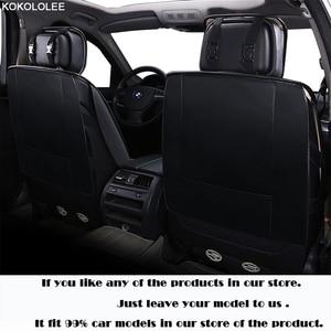Image 4 - Kokolole ensemble de housses de siège de voiture, pour lada granta renault logan peugeot 206 geely emgrand ec7 ssangyong kyron, protecteur de siège