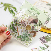40-50 Pcs Creative Daily Life Green Plants Cats Memo Pad Planner Sticky Note Paper Sticker Kawaii Stationery Pepalaria Office(China)