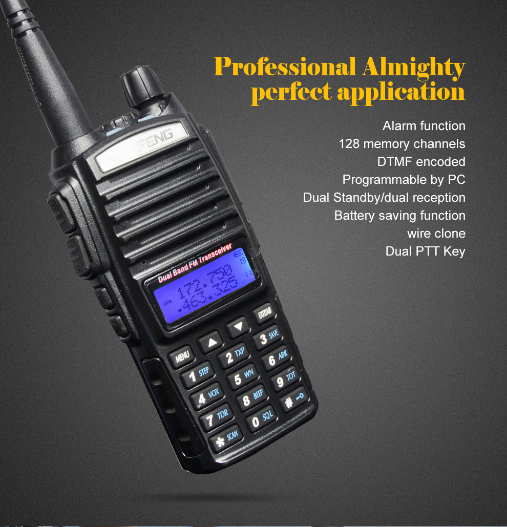 Image 2 - baofeng uv 82 walkie talkie 136 174MHZ and 400 520MHZ (TX/RX) dual PTT  FM Ham Two way Radio Transceiver, walkie talkie-in Walkie Talkie from Cellphones & Telecommunications