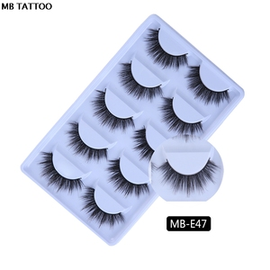 Image 3 - MB 5 Pairs Mink Eyelashes 3D faux cils natural Thick HandMade Full Strip Fake Lashes Make up Eye lashe False Eye lashes Makeup