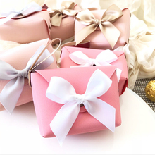 10pcs/lot Creative candy box Wedding Favor Box PU Pink Wallet Mini Gift baby shower boxes for party favors Event Supplies