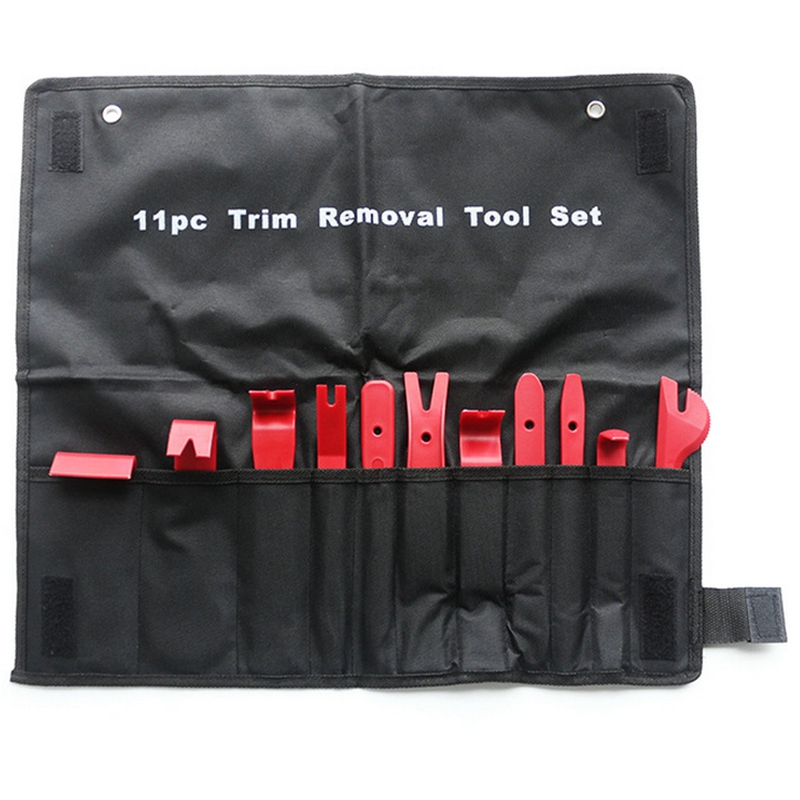 Mayitr 11pcs Professional Car Vehicle Door Dash Trim Tool Panel Molding Clip Retainer Open Removal Pry Hand Tools Pouch Set