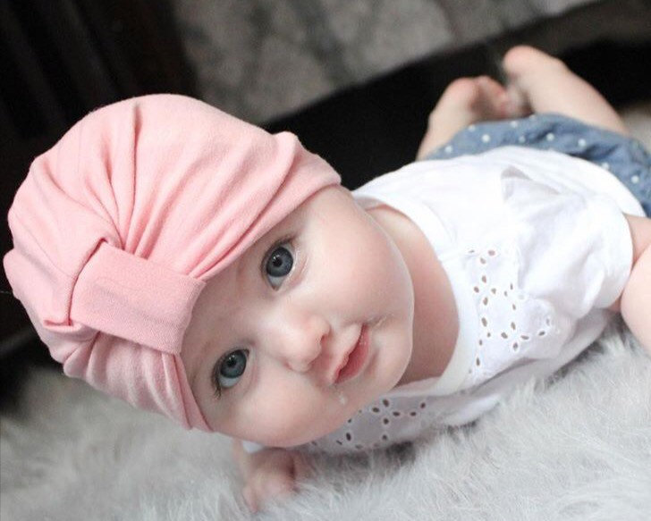 1 PC New Bohemia Autumn Baby Hat Girl Boy Cap Unisex Infant Cotton Knitted Toddlers Solid Color Baby Cap Kids Hats