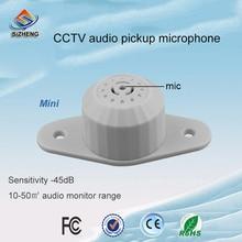 Free shipping Mini CCTV microphone audio sound monitor for cctv camera cctv microphone sound monitor audio monitor for cctv camera voice free shipping
