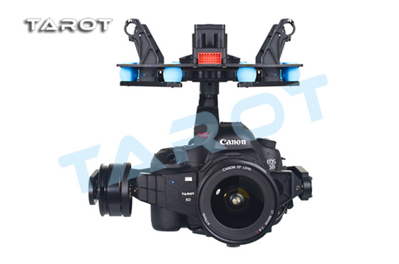 Tarot 5D3 3-Axis-stabilized Gimbal TL5D001 For Canon 5D MARK III Free Track Shipping tarot shock absorber assembly for 3 axis camera mount tl100a17 free track shipping