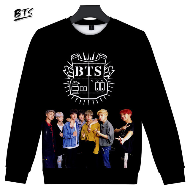 BTS 3D LOVE YOURSELF Women Clothes 2018 Kawaii Hoodies Sweatshirts Printed Harajuku Hip Hop Spring Tops Plus Size Q0819-Q0823