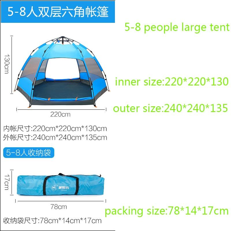 7c90dead7d1f1 Rapide Ouverture Automatique En Plein Air Tentes Grand Espace Pliage Chapiteau  Tente Barracas De Camping Pour la Randonnée Escalade Voyage Tenda dans  Tentes ...