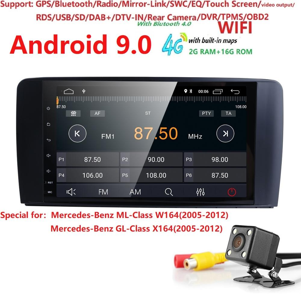2 16 Android 9 0 CAR AutoAudio player gps FOR BENZ ML 320 ML 350 W164