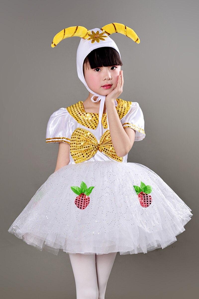Children Sheep Costume Kids Animal Cosplay Performance Dance Dress Clothing 90 160cm size