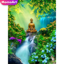 MomoArt Diamond Painting Religion Full Drill Embridery Square Rhinestone Mosaic Landscape Home Decoration