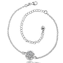 2016 Hot Sale Gift Anklet Silver Color silver plated fashion jewelry anklet for women jewelry/iUDGKEQVP