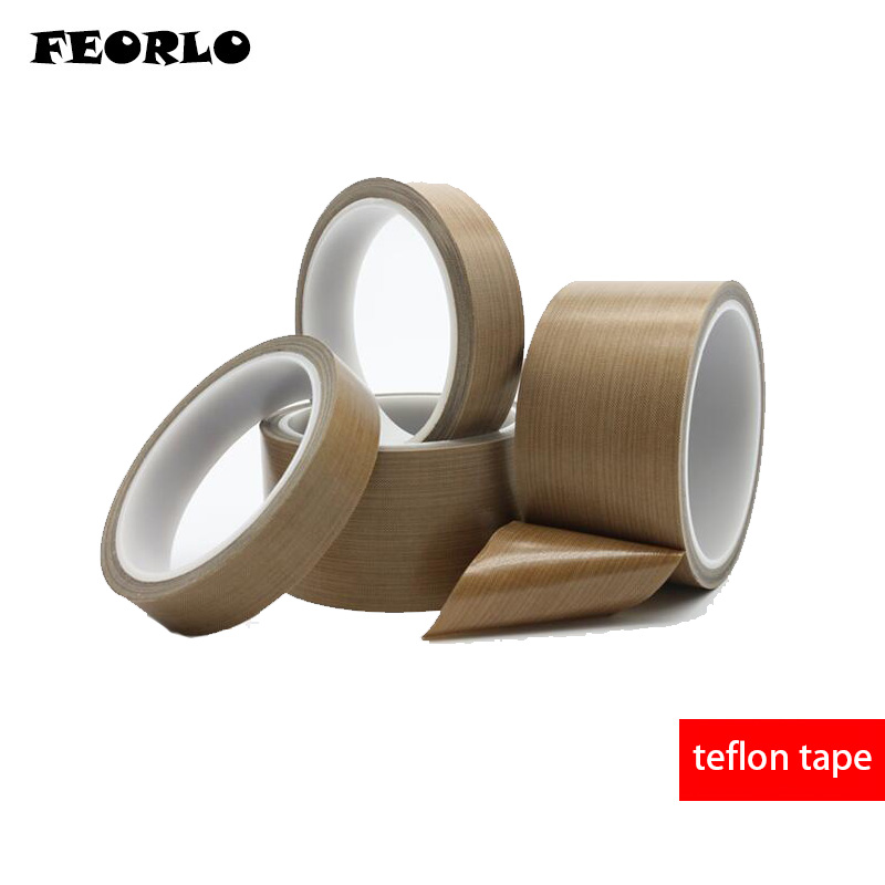 FEORLO 0.13mm Thickness X 10M High Temperature PTFE Teflon Tape Withstand Insulation Self Adhesive For LCD, Vacuum Sealer