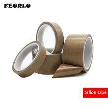 FEORLO 0.13mm thickness x 10M High Temperature PTFE Teflon Tape Withstand Insulation Self Adhesive for LCD, Vacuum Sealer 10m long 0 13mm 50mm ptfe teflon tape high temperature heat resistant adhesive 300 degrees celsius insulation wear resistance