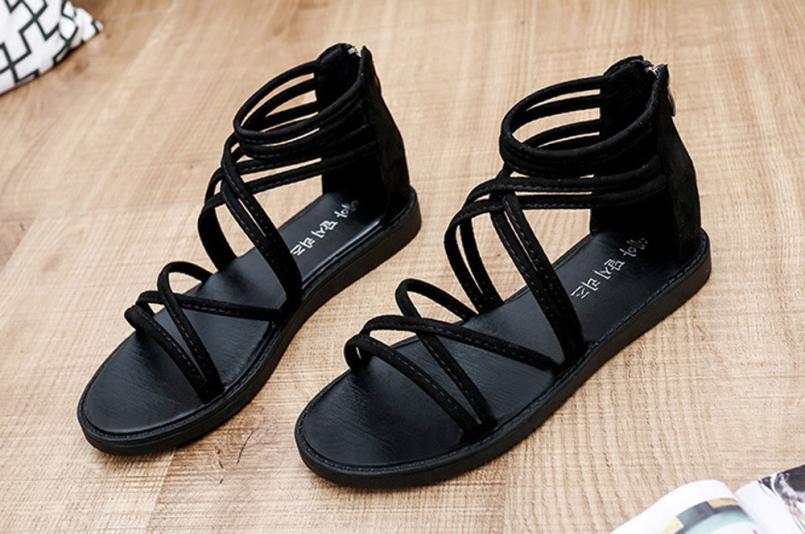 women Sandals Women Flat Shoes Bandage Bohemia Leisure Lady Casual Sandals Peep-Toe Outdoor Chaussures Femme 2018 hot sale 6