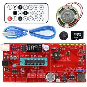Image 1 - Rich Multifunction UNO R3 Atmega328P Development Board Kit for Arduino with MP3 /DS1307 RTC /Temperature /Touch Sensor module