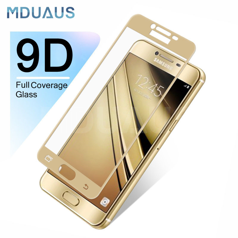 9D Tempered Glass For Samsung Galaxy J3 J5 J7 2016 2017 J2 J4 J6 J8 2018 Full Cover Screen Protector Protective Glass Film Case