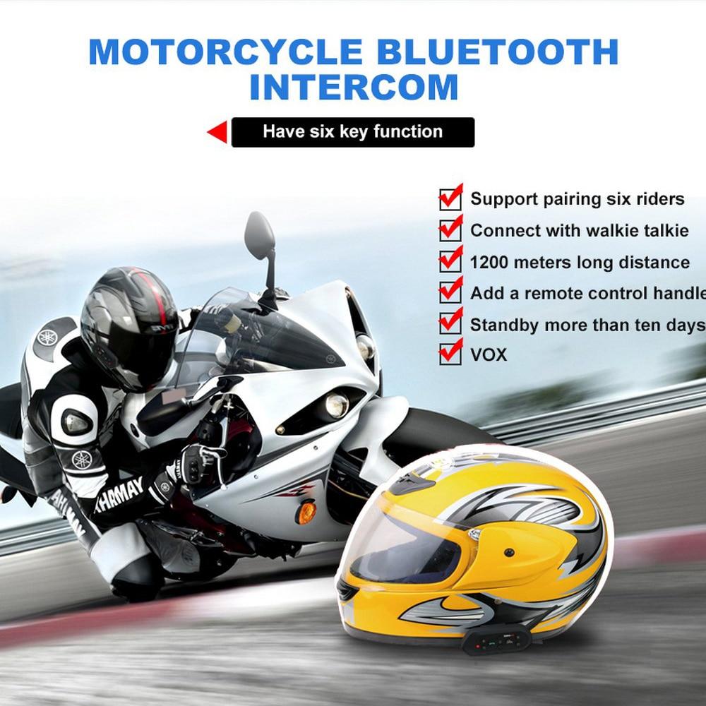 Motorcycle Helmet Headsets Locomotive Hands free Wireless Bluetooth Helmet Earphone Mp3 Walkie Talkie Easy Operation Waterproof - 3