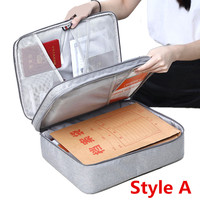 Multifunction Travel Accessory Organizer Digital Bag Document Package Women Men Briefcase Notebooks Phone Passport Storage Bags