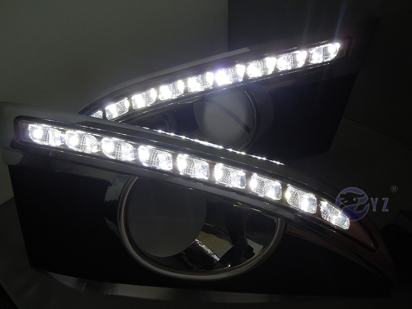 Car Flashing 1pair Drl For Chevrolet Chevy Captiva 2011