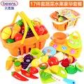 17 шт./компл. овощной фрукты резки по уходу за детьми притворись играть кухня игрушки детские образовательные игрушки для 2 - 6 1-летние дети-бесплатная подарок