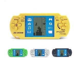 Image 2 - Popularne w stylu Retro klasyczne dzieciństwo Tetris podręczne konsole do gier LCD elektroniczne zabawki do gry konsola do gier wbudowana w 23 klasyczne Tetris
