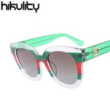 0544b4fba35 Italy Famous Brand Designer Contrast Green Red Luxury Sunglasses Women 2018  Gradient Patchwork Sun Glasses Men Lunette Oculos