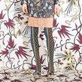 Calidad caja de moda multicolor de la vendimia de la tendencia nacional de terciopelo medias del pantyhose femenino de la muchacha medias de las mujeres