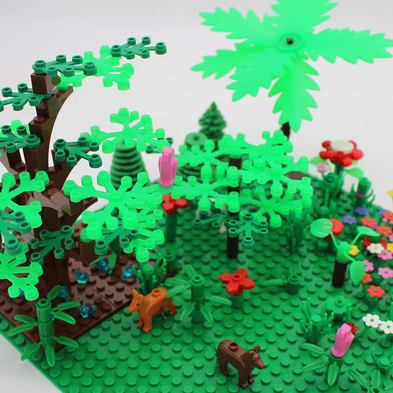 Building Blocks City DIY Creative  Gardn Bricks Toys for Children Educational Bricks Kids   GIft Tree  Flower Grass lepin 42010 590pcs creative series brick box legoingly sets building nano blocks diy bricks educational toys for kids gift