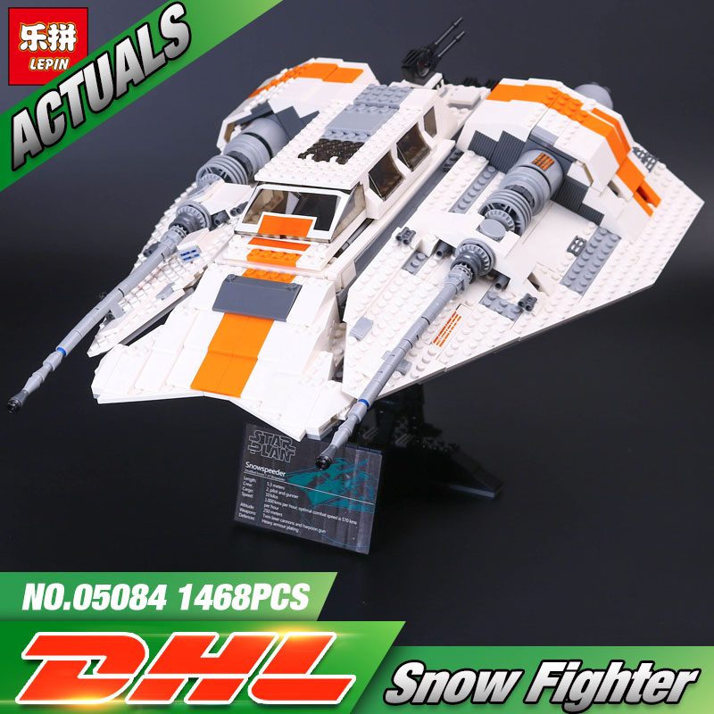 DHL Lepin 05084 1457Pcs Star Toys Wars The 10129 Snowspeeder Set Building Blocks Bricks New Toys For Kids Christmas Gifts Model