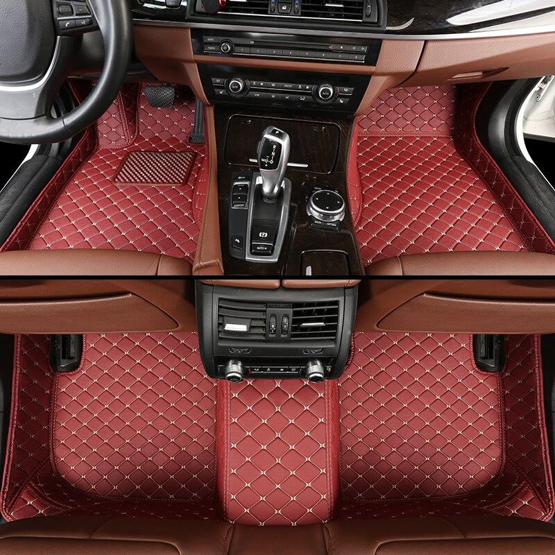 leather car floor mats for Toyota Camry 40 Corolla RAV4 Verso FJ Land Cruiser LC 200
