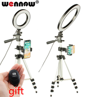 Dimmable LED Studio Camera Ring Light Photo Mobile Phone Video Annular Lamp Tripod Selfie Stick For Xiaomi iphone Samsung SONY