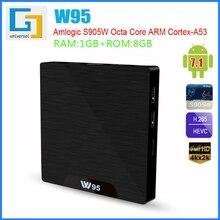GRWIBEOU W95 Android TV caja de W95 Android 7,1 caja de TV inteligente 2 GB 16 GB Amlogic S905W Quad Core 2,4 GHz WiFi Set top box 1GB8GB