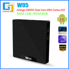 GRWIBEOU W95 Android tv kutusu W95 Android 7.1 akıllı tv kutusu 2 GB 16 GB Amlogic S905W Quad Core 2.4 GHz WiFi Set top kutusu 1GB8GB
