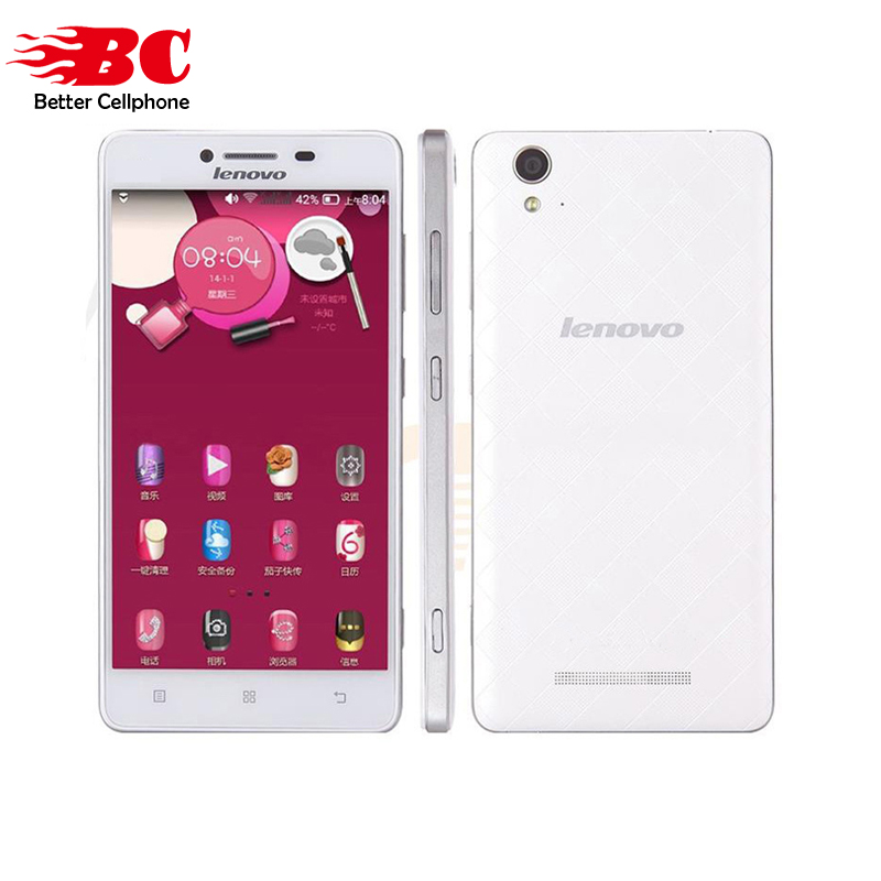 Original Lenovo A858w A858 MT6732 Quad Core 1.5GHz FDD LTE 4G Android 4.4 5.0 inch FHD 1280*720P 8MP Dual Sim Smart Mobile Phone