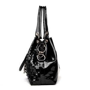 Image 2 - bags for women 2020 Fashion women bag Leather Sequins Women Handbags Shiny Ladies Handbag Chain Shoulder Bags Brand Designer