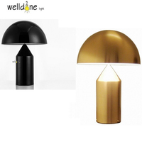 Art Decor Mushroom Table Lamp Mirror Finished Lamp Modern Fashion BELL Bedside Light Office Tablw Lamp
