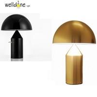 Art Decor Mushroom Table Lamp Mirror Finished Lamp Modern Fashion BELL Bedside Light Office Tablw Lamp