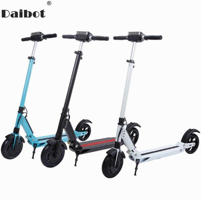 Daibot Électrique Scooter Pour Adultes Deux Roues Scooters Électriques 8 pouce 36 v Double Suspension Pliant Électrique Planche À Roulettes Scooter